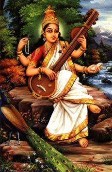 Sri Sarawati playing the sitar