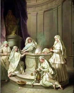 Feminine Spirituality: Vestal Virgins tending the Flame