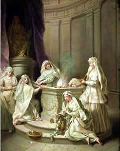 Feminine Spirituality: Vestal Virgins tending the Flame