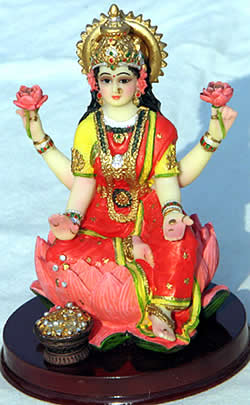 A statue of Our Mother God as Sri Lakshmi could be central to your home altar plans