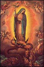 The Blessed Virgin Mary treads the Serpent