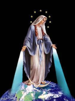 Our Lady Mary blesses the world
