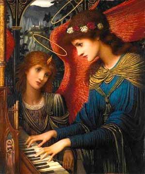 St Cecilia, the blind musician