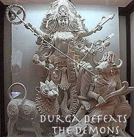 Durga Defeats the Demons: Our Mother God triumphant