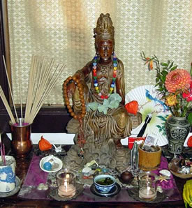 A model shrine to Kuan Yin