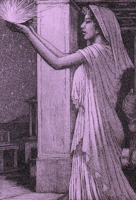 A priestess in classical times